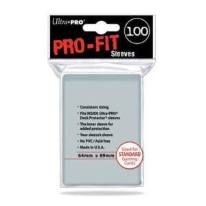 ransparante Pro-Fit sleeves (64x89 mm) Ultra Pro